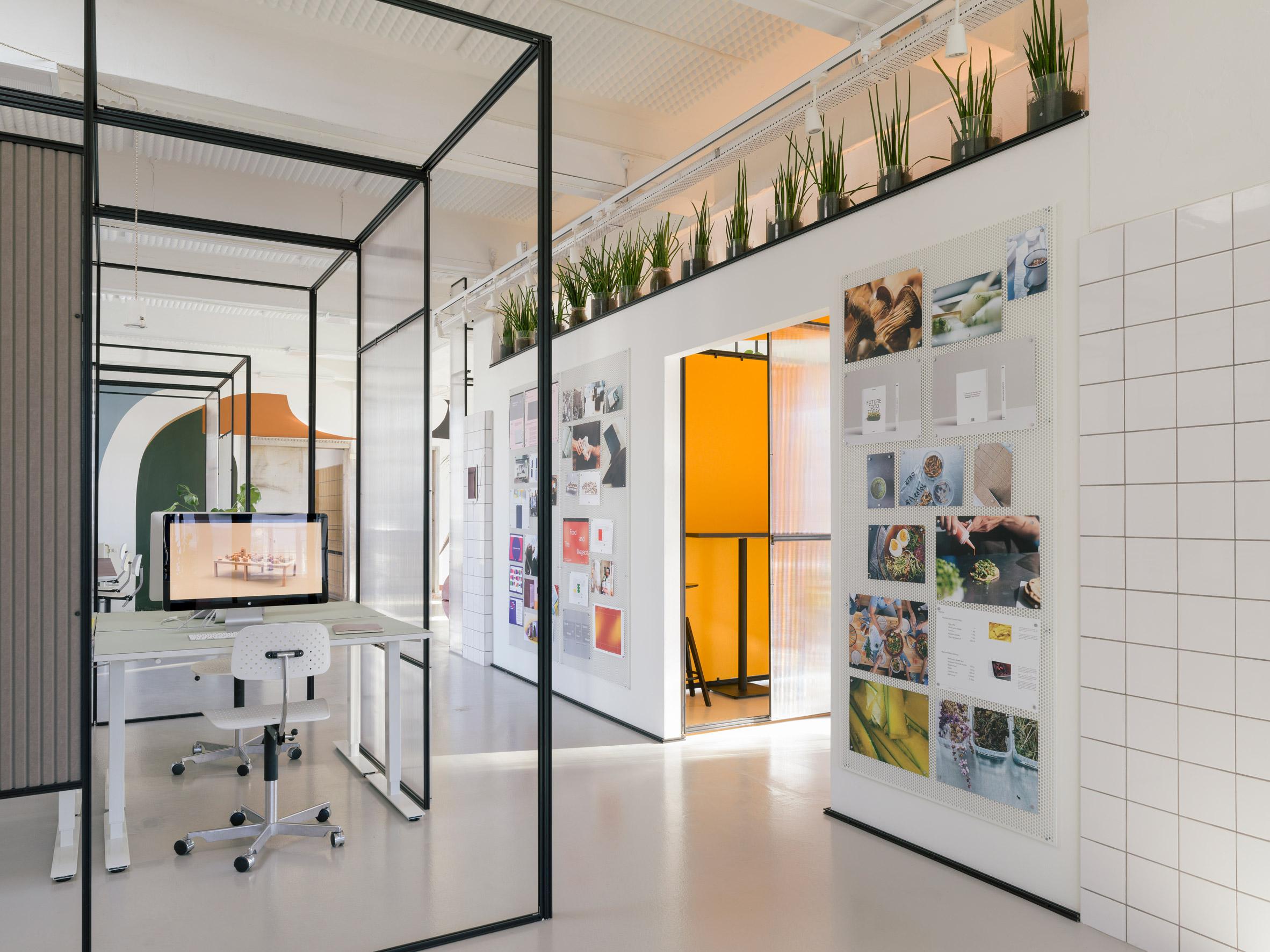Thiết kế văn phòng 20m2 phân vùng 1