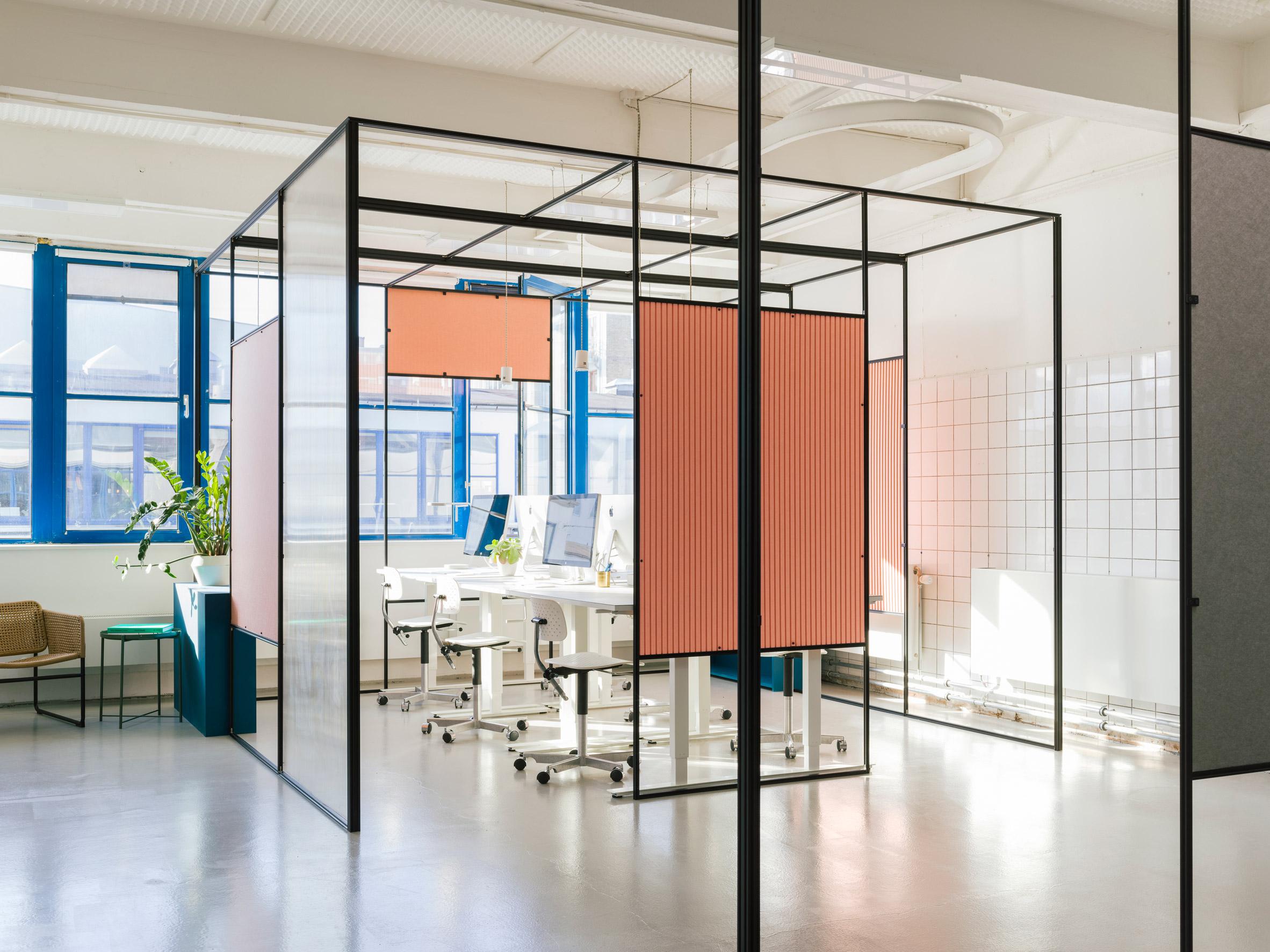 Thiết kế văn phòng 20m2 phân vùng 16