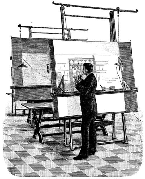 Tranh vẽ một kiến trúc sư, 1893.