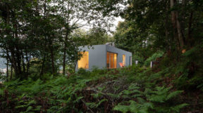 Ngôi nhà nép mình giữa những tán cây với thiết kế cảnh quancây xanh
