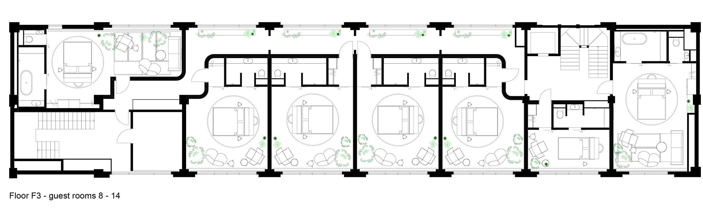 Thiết kế nội thất khách sạn3 sao 12