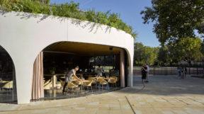 Thiết kế quán cafehiện đại với mô hình xoắn ốc lạ mắt