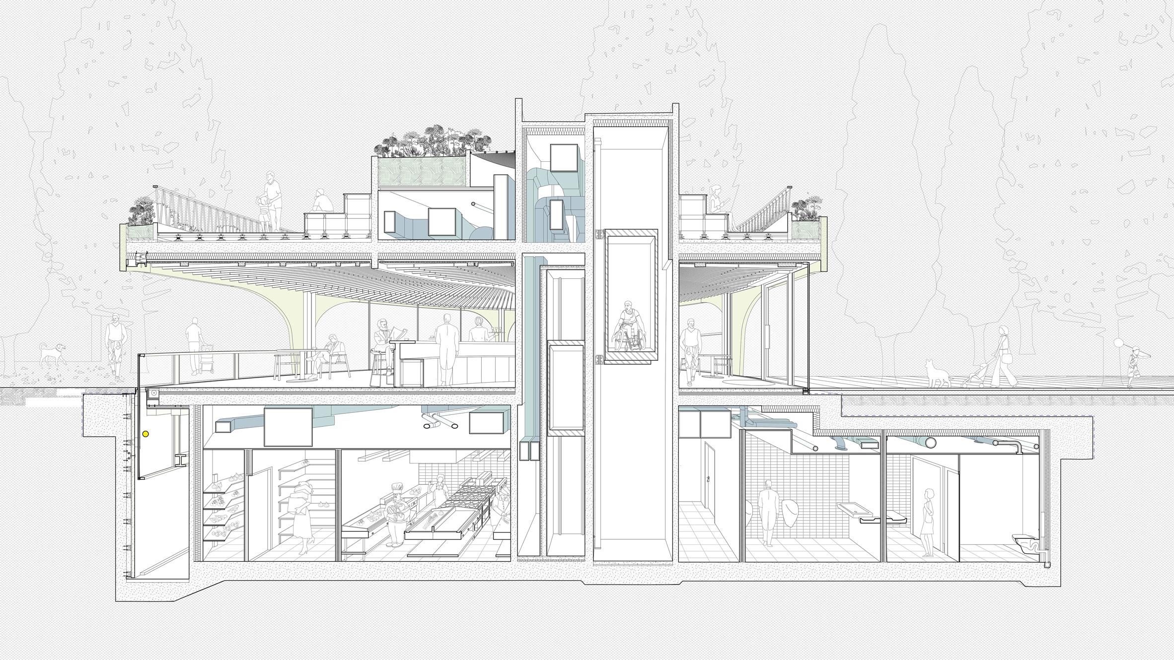 Thiết kế quán cafehiện đại 10