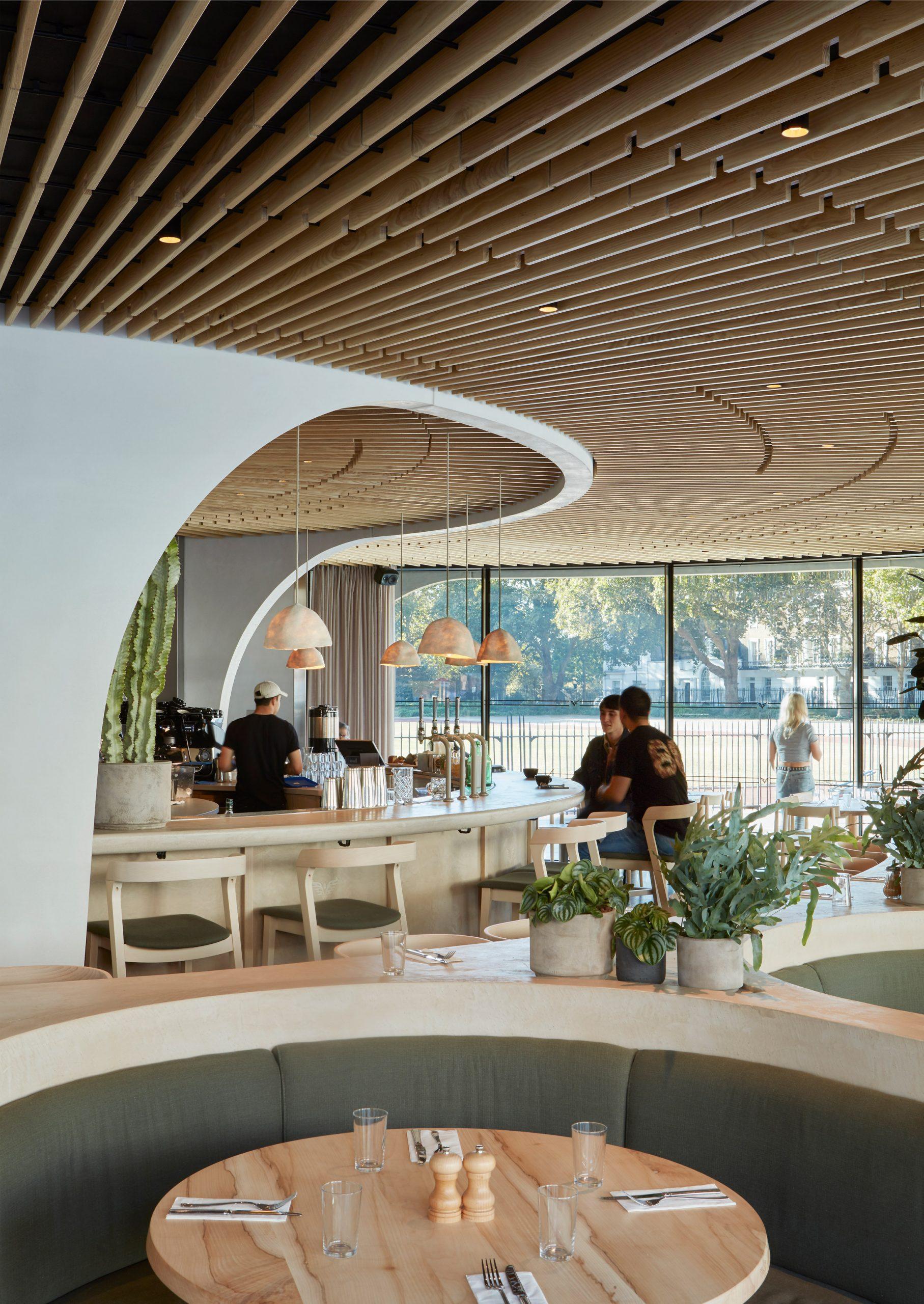 Thiết kế quán cafehiện đại 2