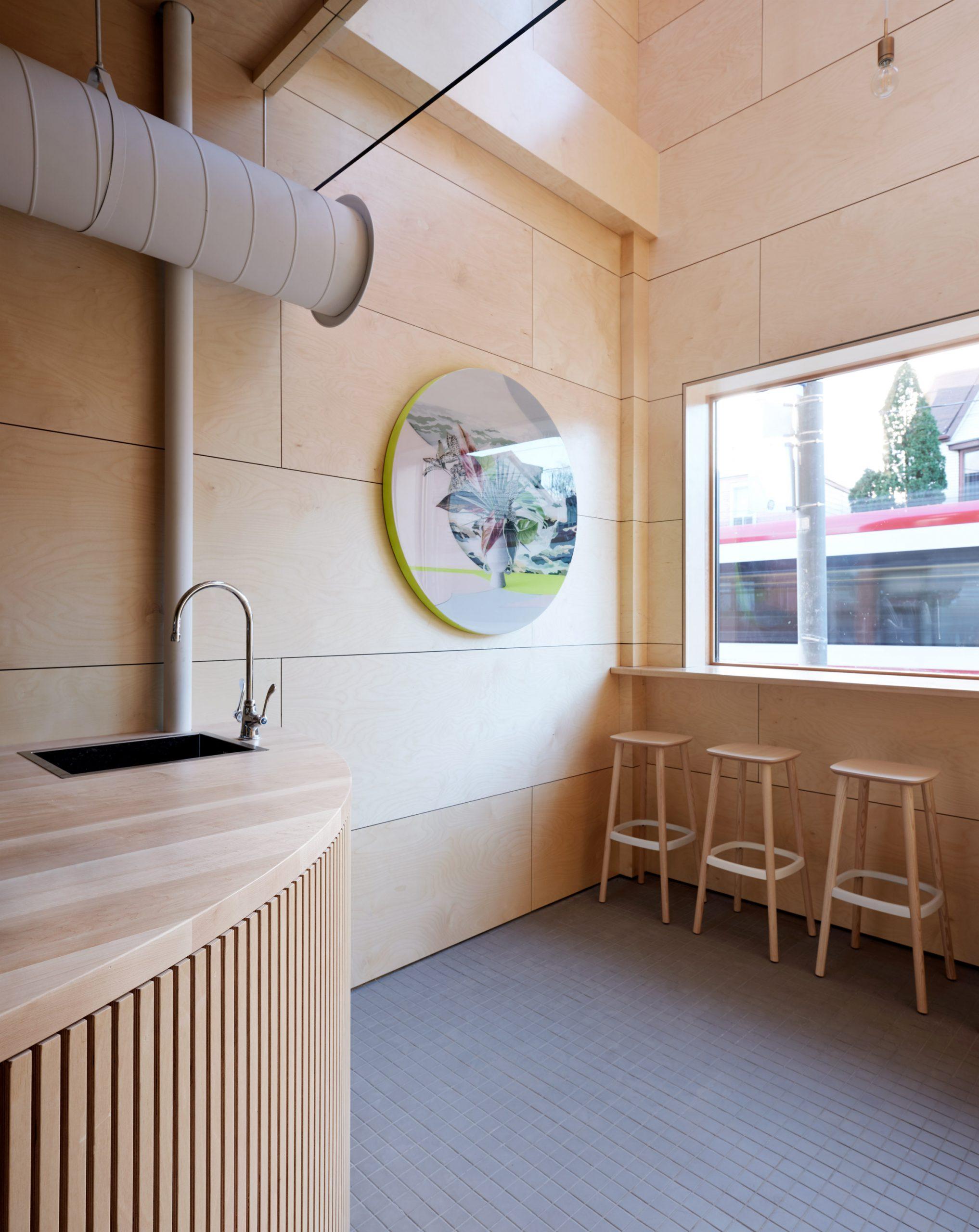 Thiết kế quán cafemặt tiền 5m 3