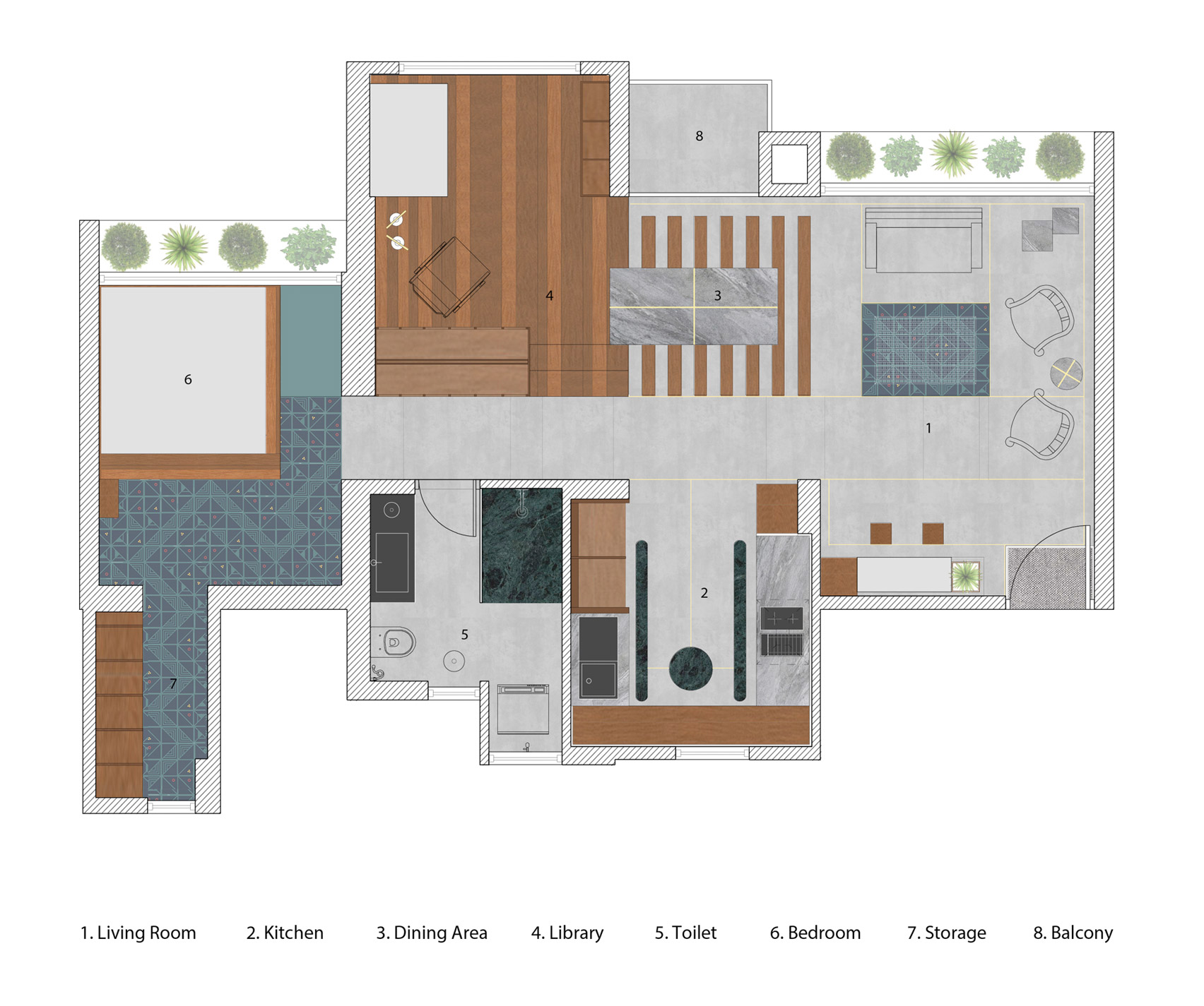 Nội thất phòng khách chung cư 8