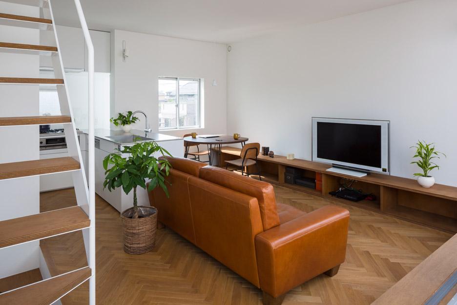 Phòng khách đẹp nhà ống 5