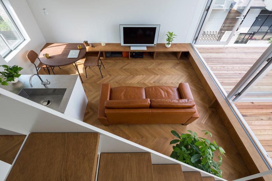 Phòng khách đẹp nhà ống 7