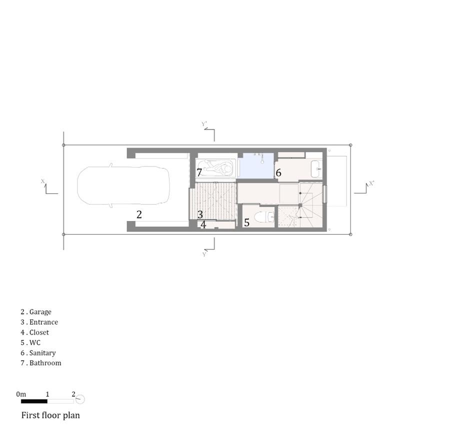 Phòng khách nhà ống 5m 9
