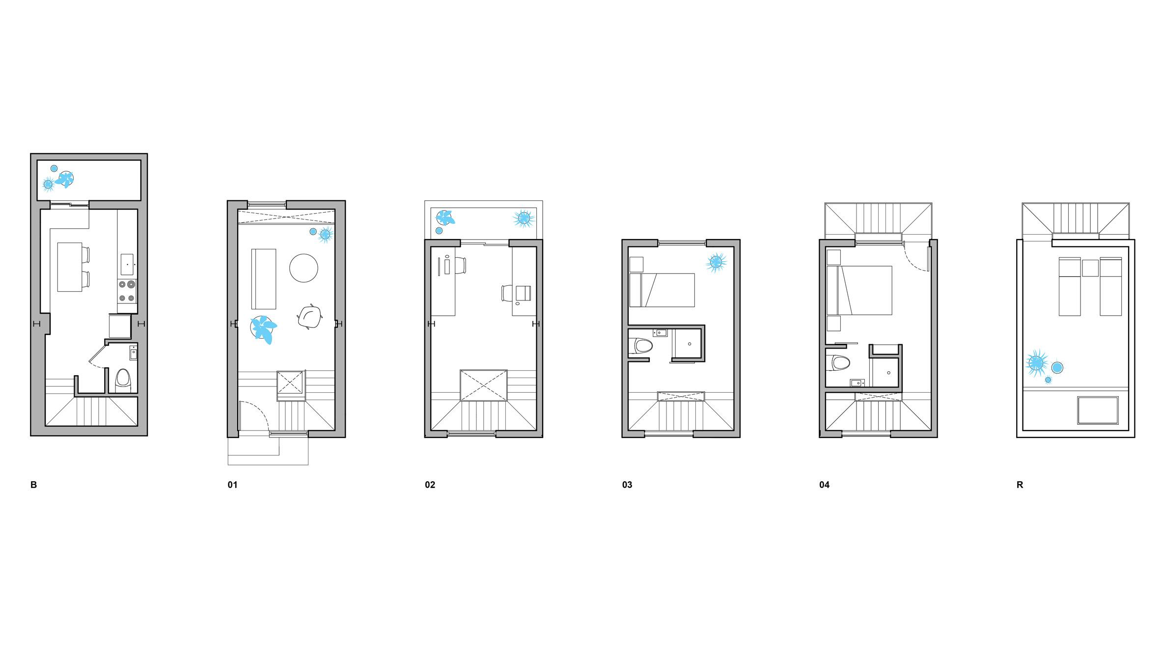 Phòng khách nhà ống hiện đại 9