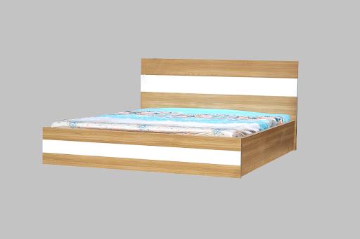 Gường ngủ MDF vân gỗ sồi trắng