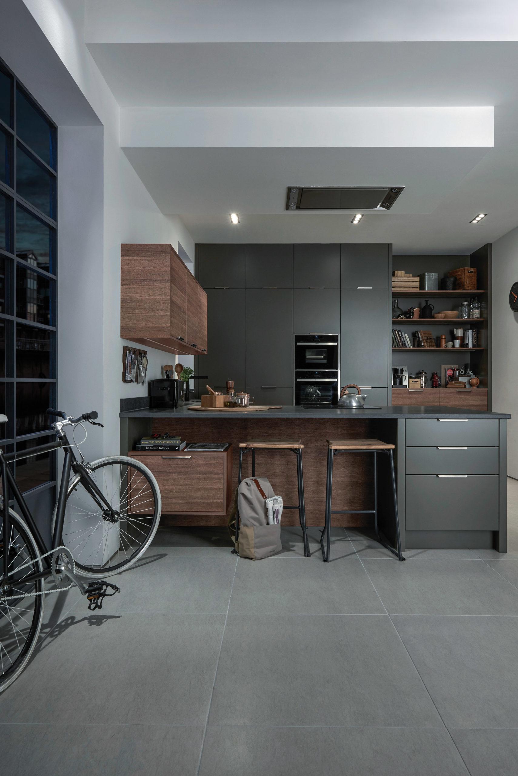 Mẫu tủ bếp hiện đại 1