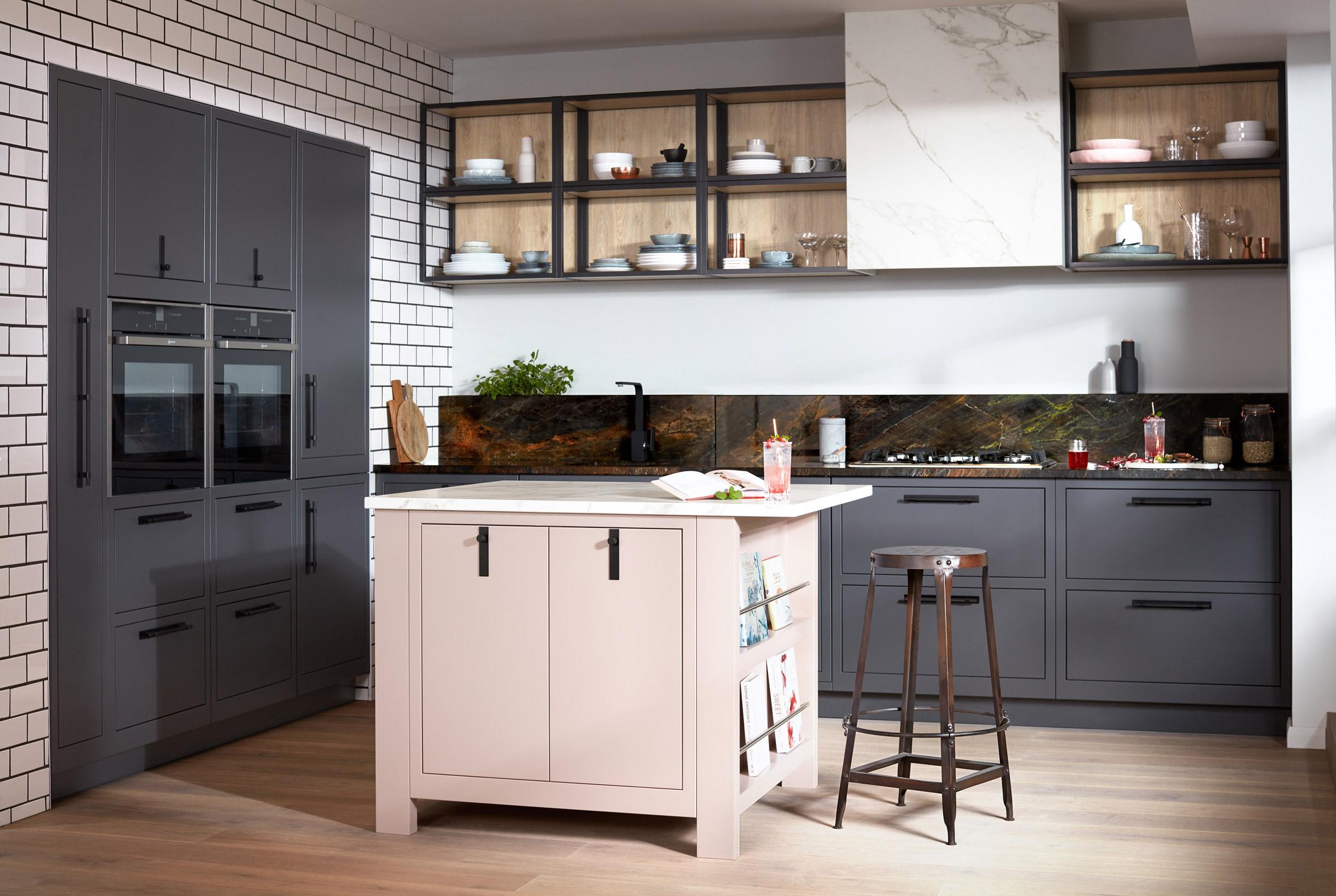 Mẫu tủ bếp hiện đại 2