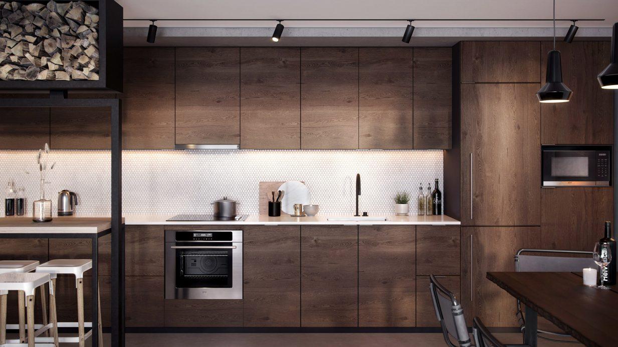 Mẫu tủ bếp hiện đại 5