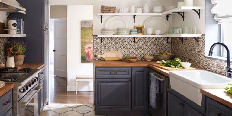 Tủ bếp đẹp hình chữ L 10