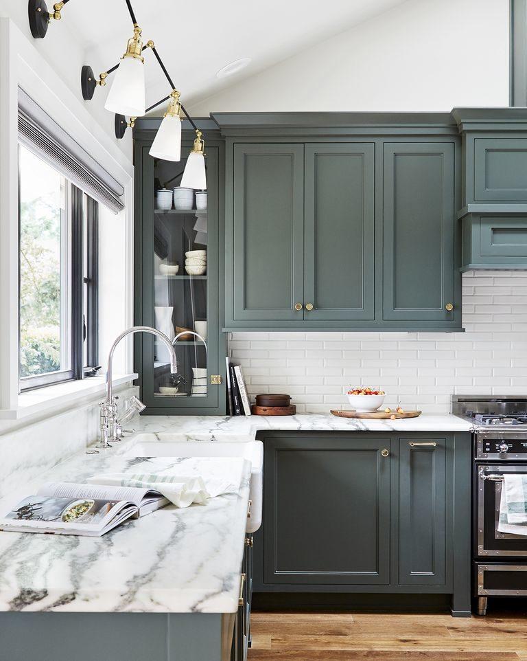 Tủ bếp đẹp hình chữ L 13