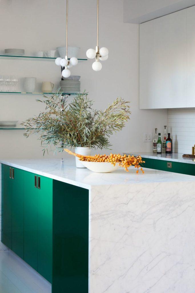 Tủ bếp đẹp hình chữ L 2