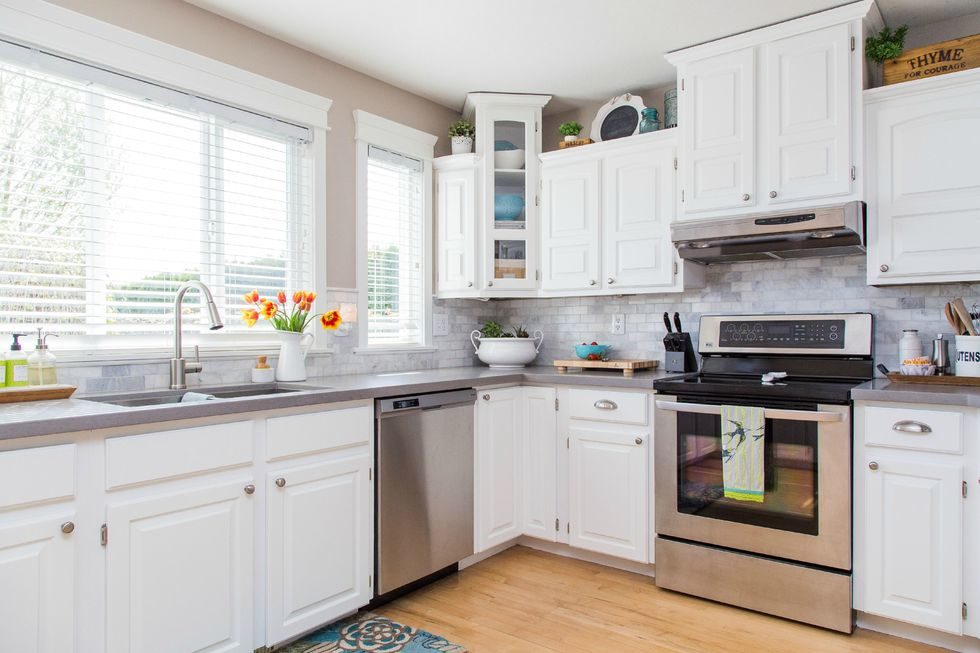 Tủ bếp đẹp hình chữ L 20