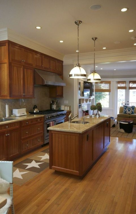 Tủ bếp đẹp hình chữ L 21