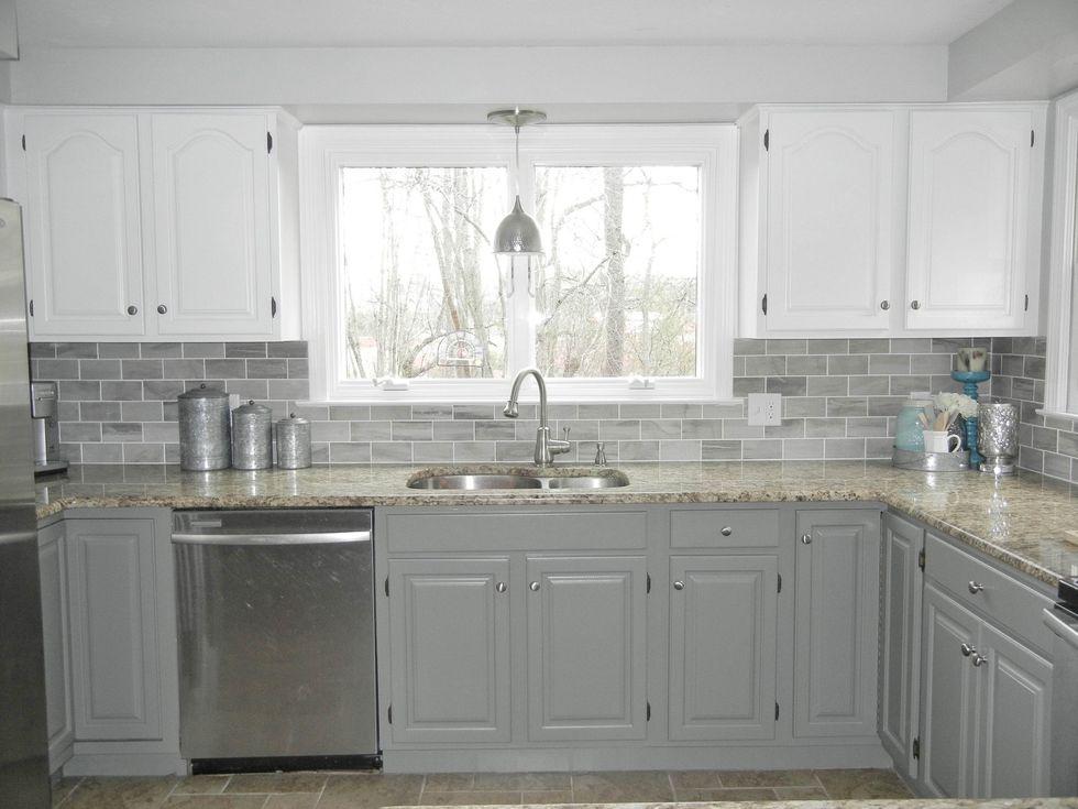 Tủ bếp đẹp hình chữ L 24