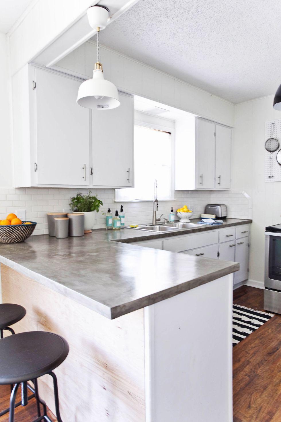 Tủ bếp đẹp hình chữ L 27