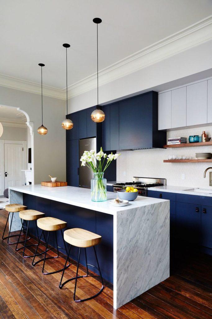 Tủ bếp đẹp hình chữ L 3