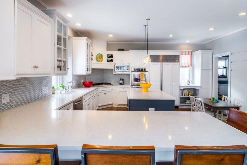 Tủ bếp đẹp hình chữ L 31