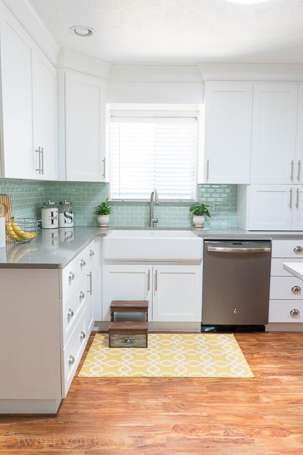 Tủ bếp đẹp hình chữ L 33