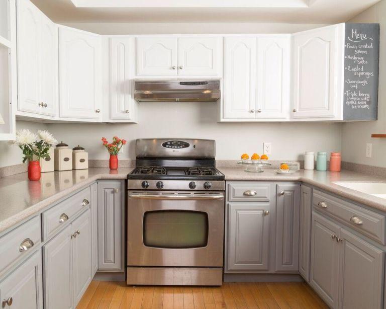 Tủ bếp đẹp hình chữ L 35