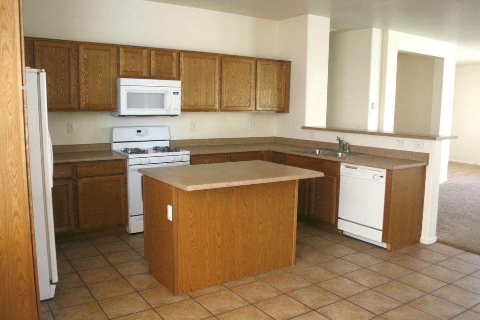 Tủ bếp đẹp hình chữ L 36