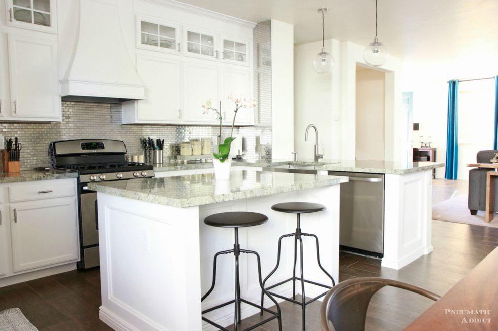 Tủ bếp đẹp hình chữ L 37