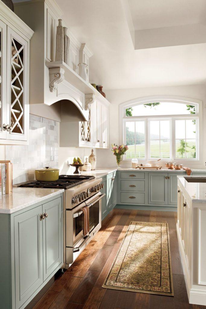 Tủ bếp đẹp hình chữ L 4