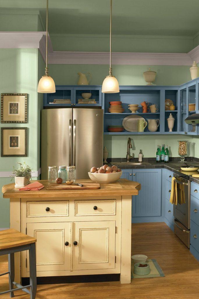 Tủ bếp đẹp hình chữ L 5