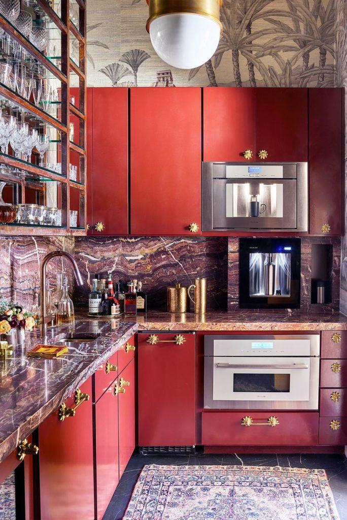 Tủ bếp đẹp hình chữ L 7