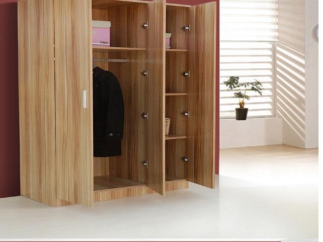 Tủ quần áo kiểu dáng sang trọng, hiện đại làm từ gỗ công nghiệp MDF