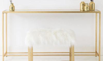 Ghế Makeup Mạ Vàng