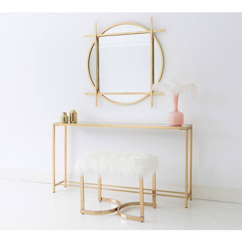 Ghế Makeup Mạ Vàng 3