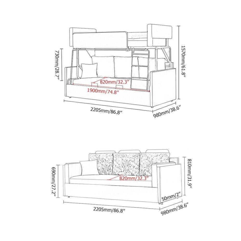Ghế Sofa Giường Tầng Cao Cấp 6