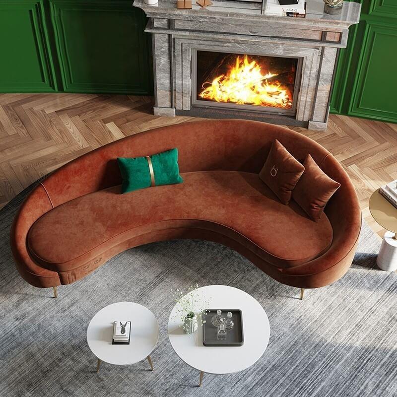 Sofa cao cấp bọc nhung 1