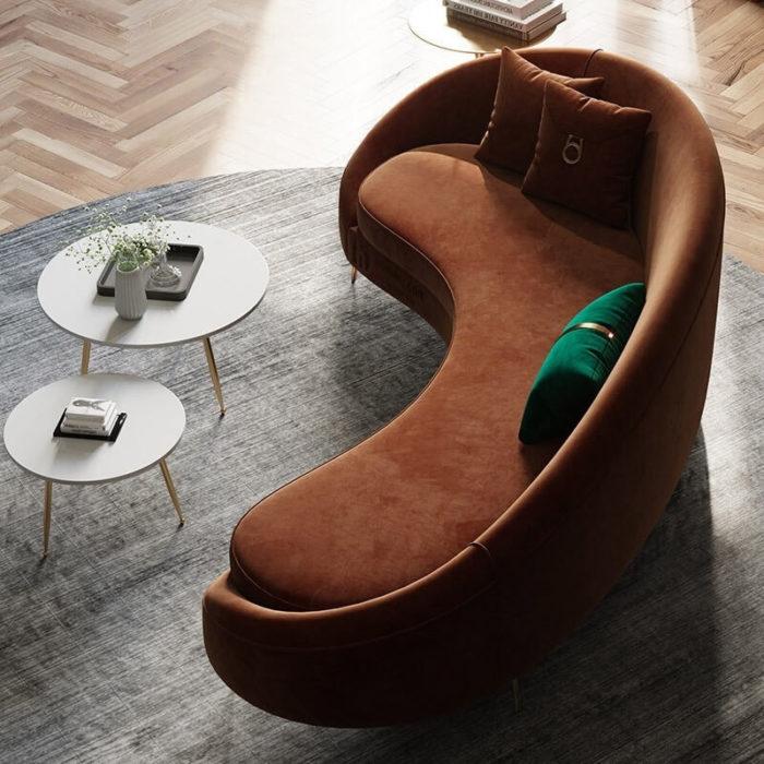 Sofa cao cấp bọc nhung 2