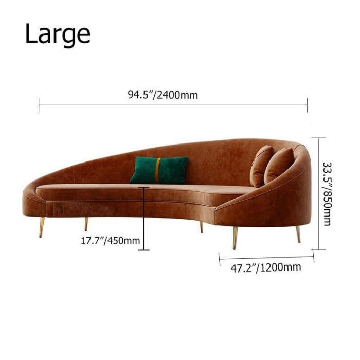 Sofa cao cấp bọc nhung 6