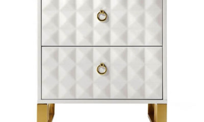 Tủ đầu giường mạ vàng