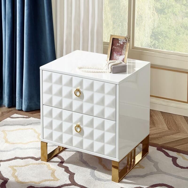 Tủ đầu giường mạ vàng 1