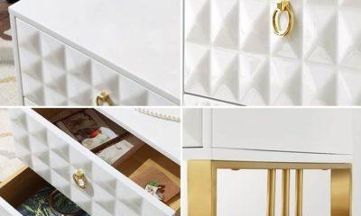 Tủ đầu giường mạ vàng 5