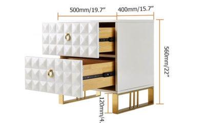 Tủ đầu giường mạ vàng 6
