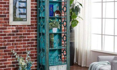 Tủ Gỗ Vintage Trưng Bày