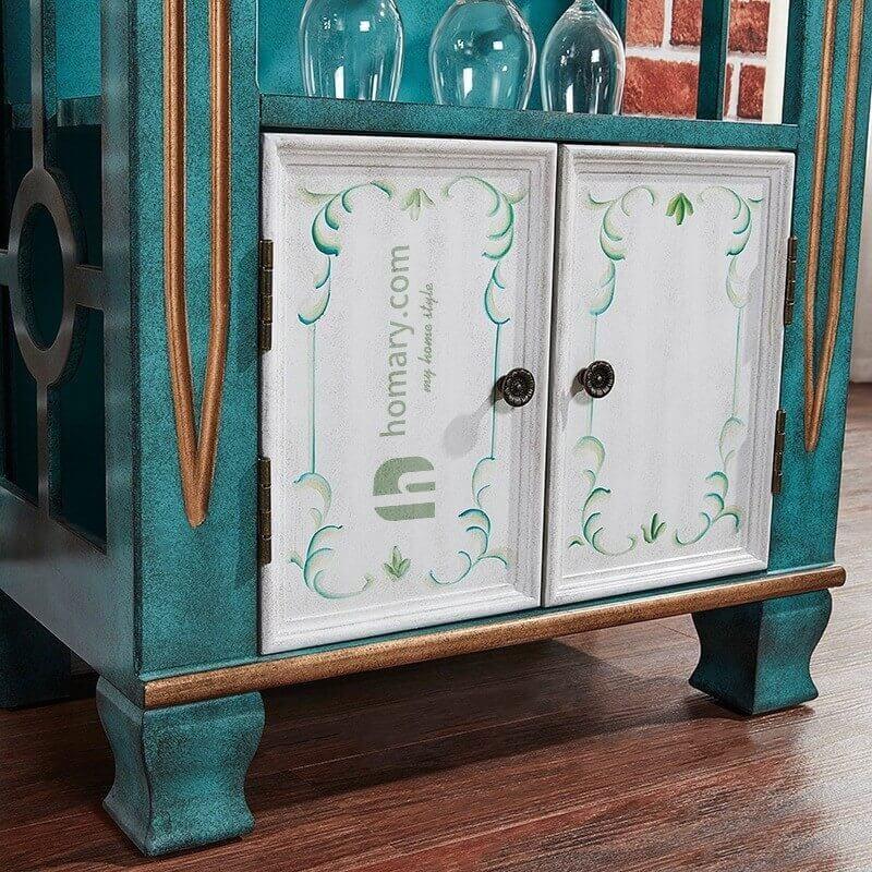 Tủ Gỗ Vintage Trưng Bày 4