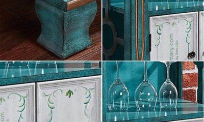 Tủ Gỗ Vintage Trưng Bày 6