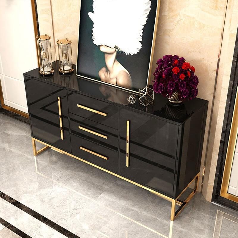 Tủ trang trí mạ vàng 1