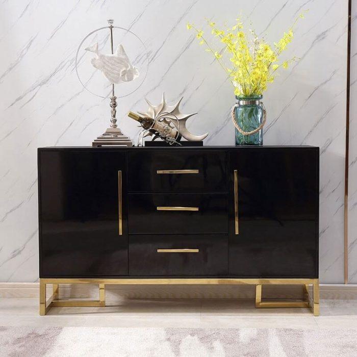 Tủ trang trí mạ vàng 3